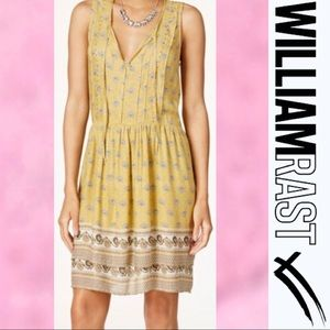 "WILLIAM RAST ""Devondra"" BoHo Mustard Dress Large"